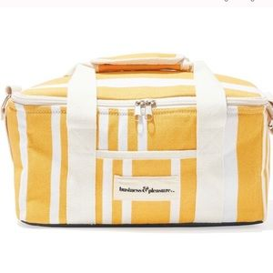 Business & Pleasure Striped Cooler Bag Yellow